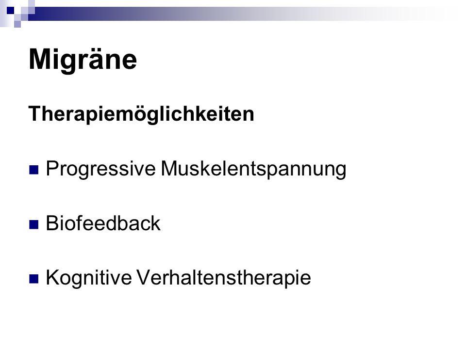 Migräne Therapiemöglichkeiten Progressive Muskelentspannung