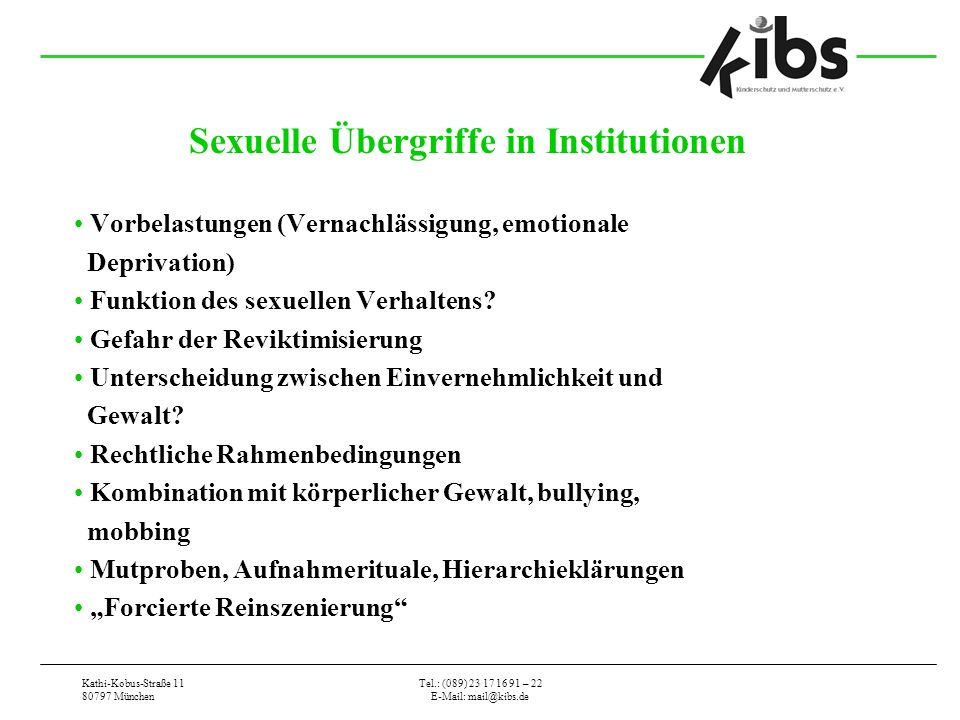 Sexuelle Übergriffe in Institutionen