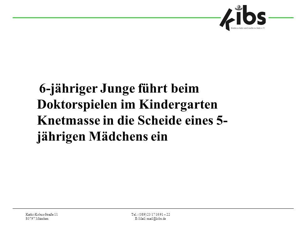 6-jähriger Junge führt beim Doktorspielen im Kindergarten Knetmasse in die Scheide eines 5-jährigen Mädchens ein