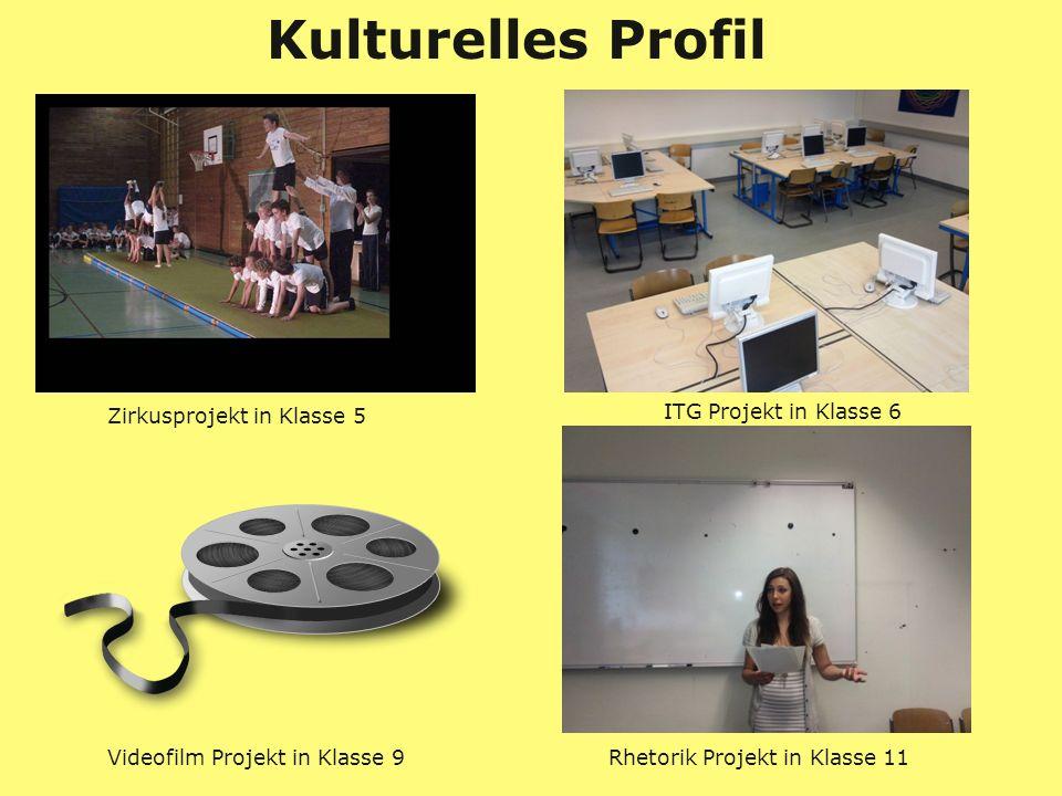 Kulturelles Profil Zirkusprojekt in Klasse 5 ITG Projekt in Klasse 6