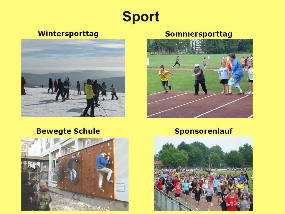 Sport Wintersporttag Sommersporttag Bewegte Schule Sponsorenlauf