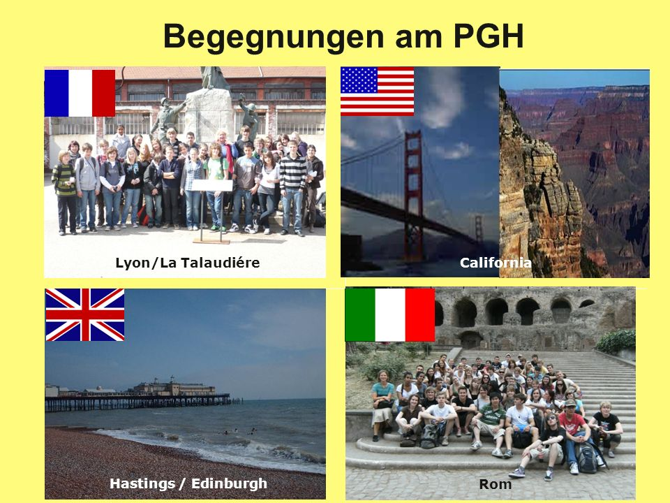 Begegnungen am PGH Lyon/La Talaudiére California Hastings / Edinburgh