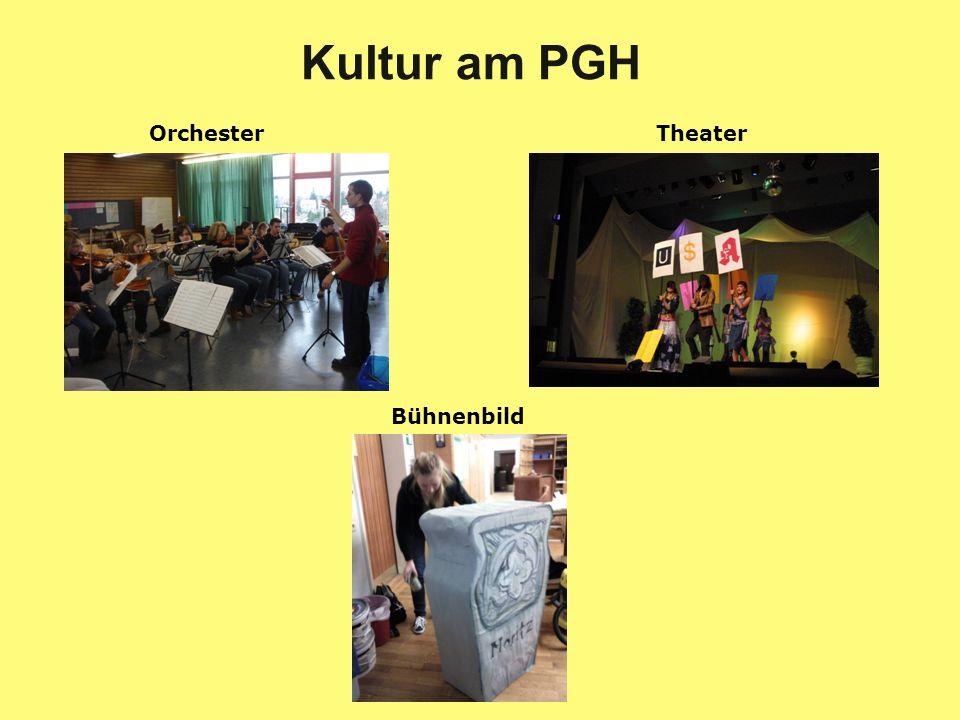 Kultur am PGH Orchester Theater Bühnenbild