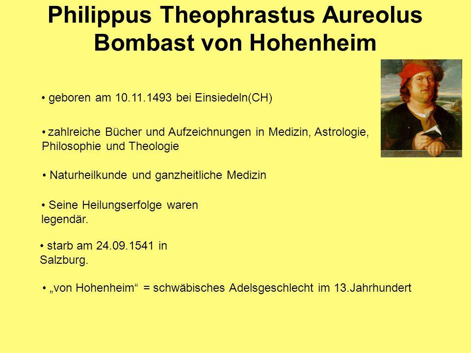 Philippus Theophrastus Aureolus Bombast von Hohenheim