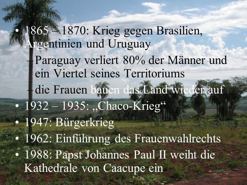 1865 – 1870: Krieg gegen Brasilien, Argentinien und Uruguay
