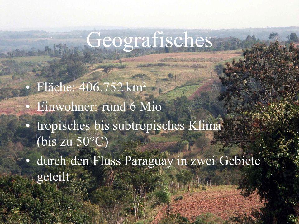 Geografisches Fläche: 406.752 km² Einwohner: rund 6 Mio