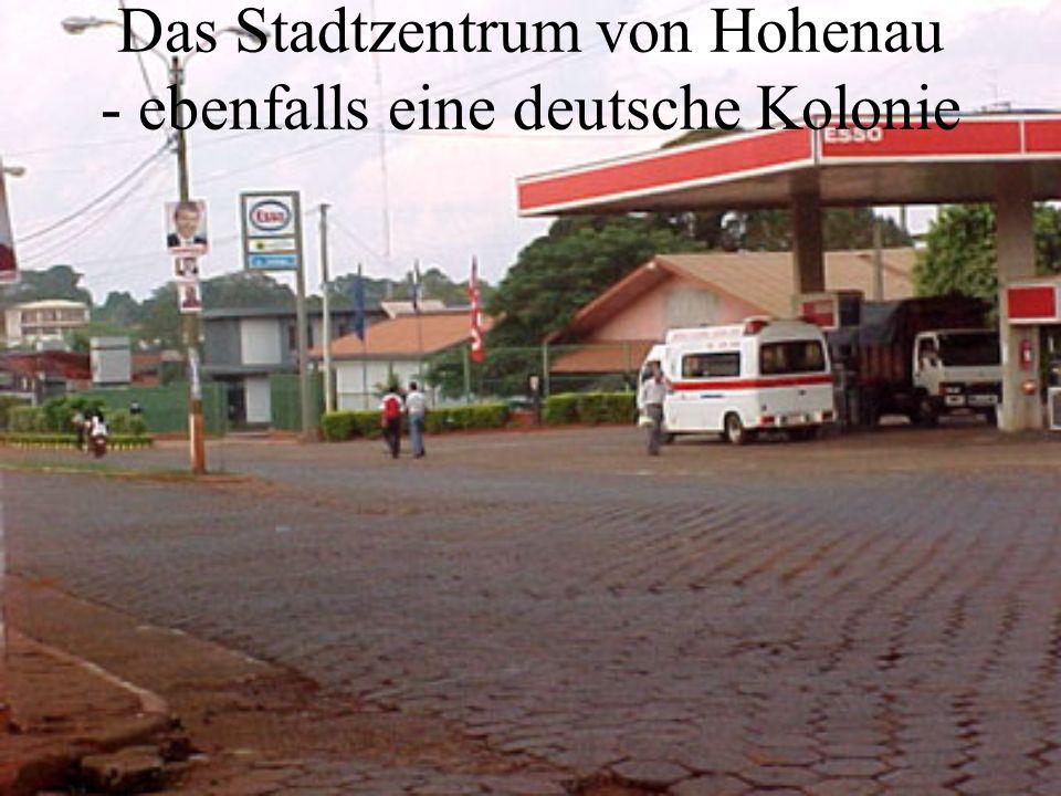 Das Stadtzentrum von Hohenau - ebenfalls eine deutsche Kolonie