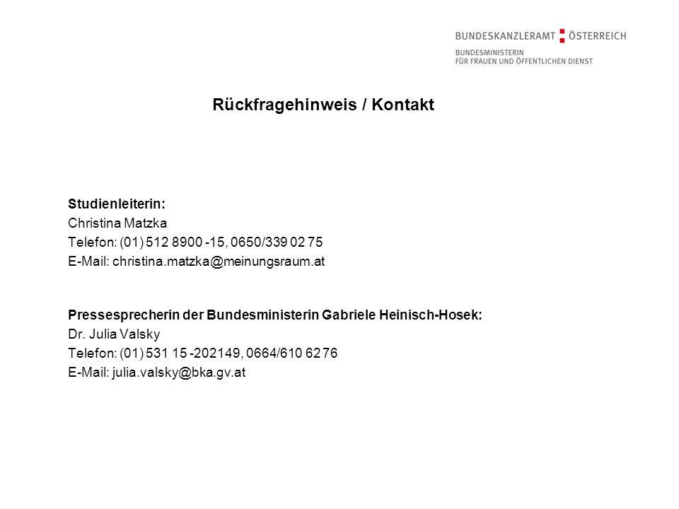 Rückfragehinweis / Kontakt