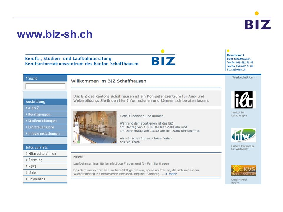 www.biz-sh.ch 14