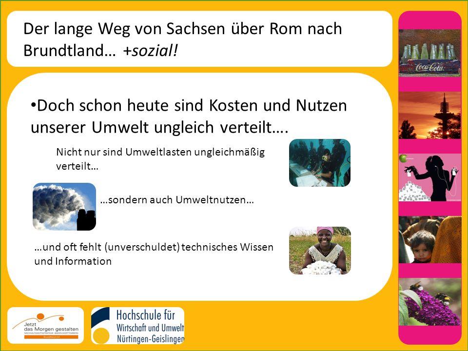 Der lange Weg von Sachsen über Rom nach Brundtland… +sozial!