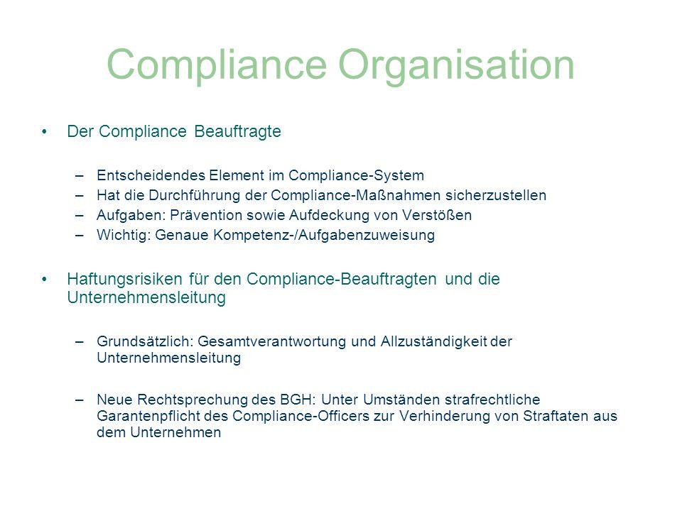 Compliance Organisation