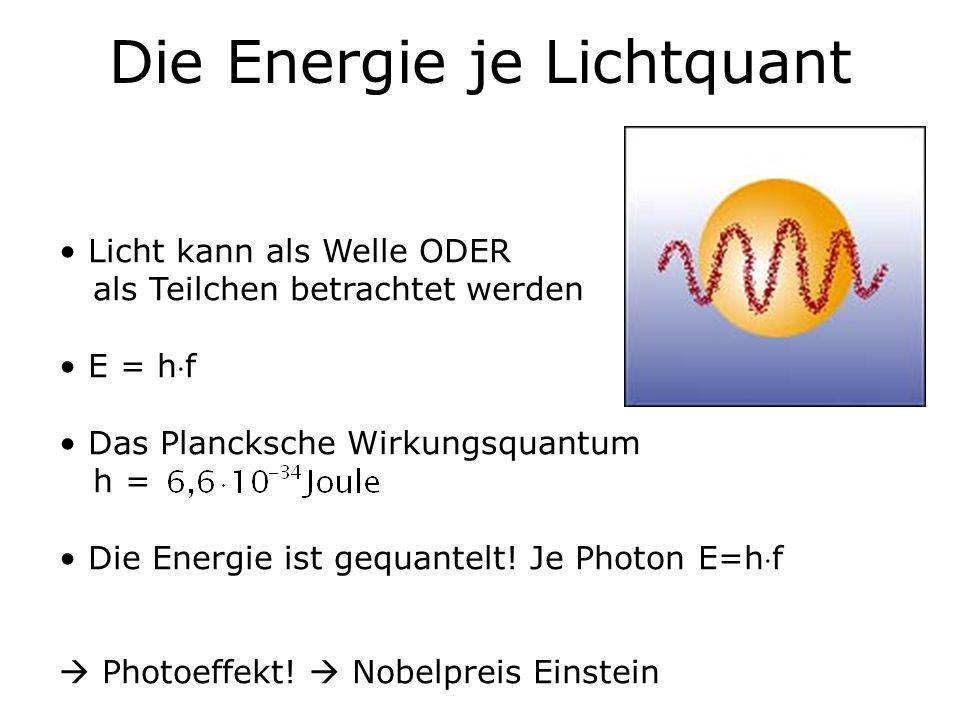 Die Energie je Lichtquant