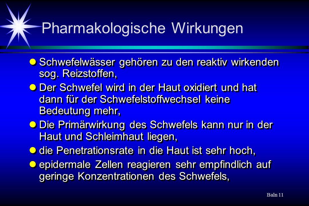 Pharmakologische Wirkungen