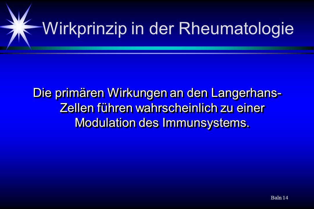 Wirkprinzip in der Rheumatologie