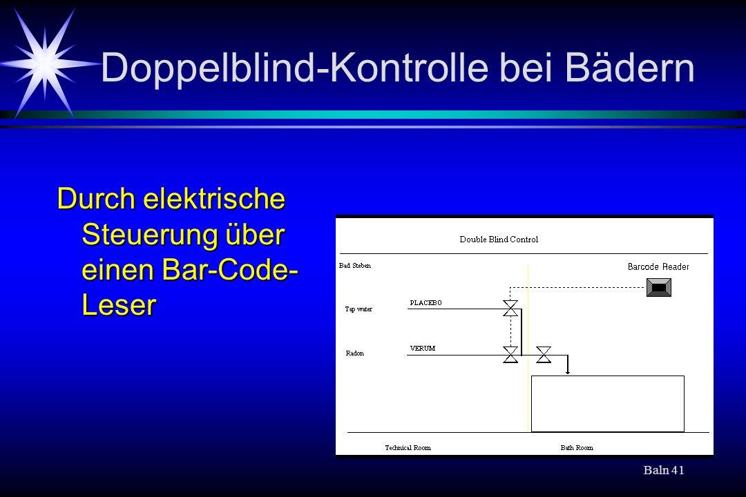 Doppelblind-Kontrolle bei Bädern