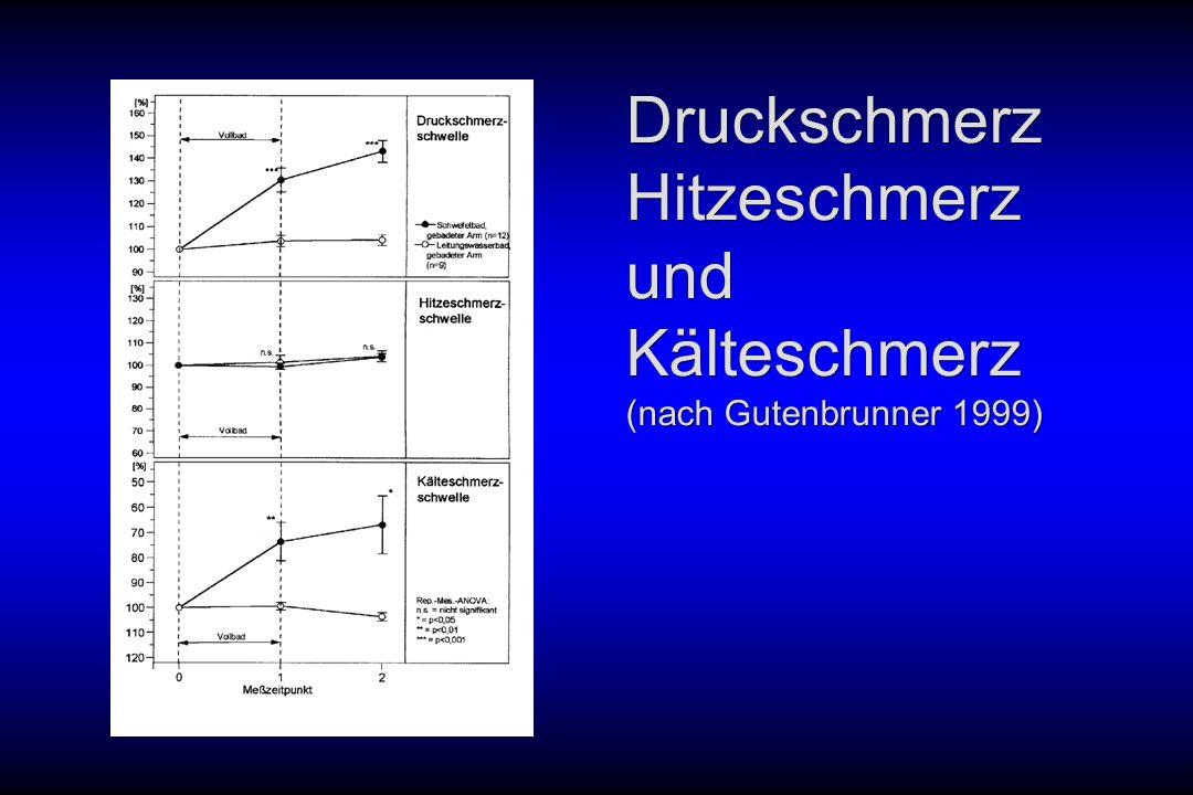 Druckschmerz Hitzeschmerz und Kälteschmerz (nach Gutenbrunner 1999)