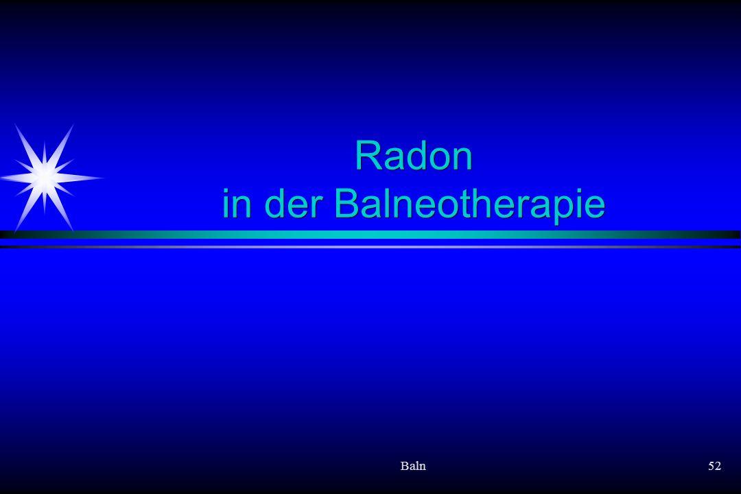 Radon in der Balneotherapie