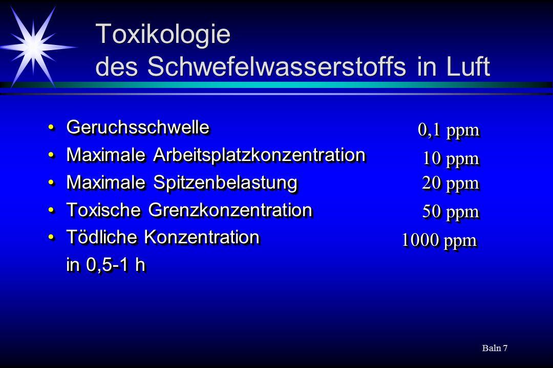 Toxikologie des Schwefelwasserstoffs in Luft