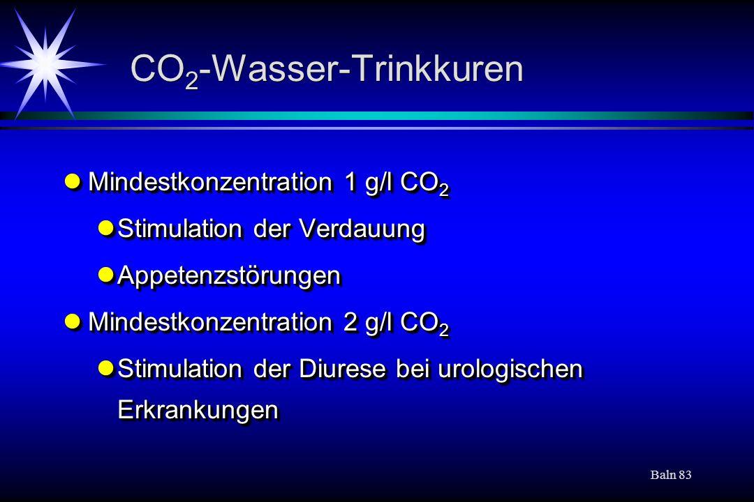 CO2-Wasser-Trinkkuren
