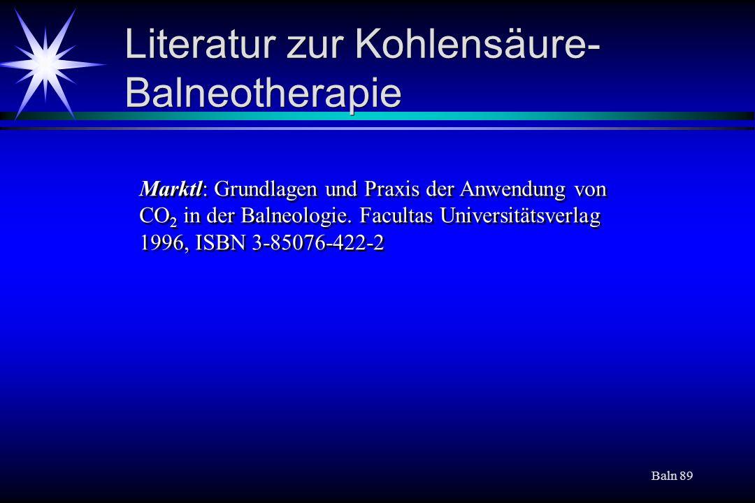 Literatur zur Kohlensäure-Balneotherapie