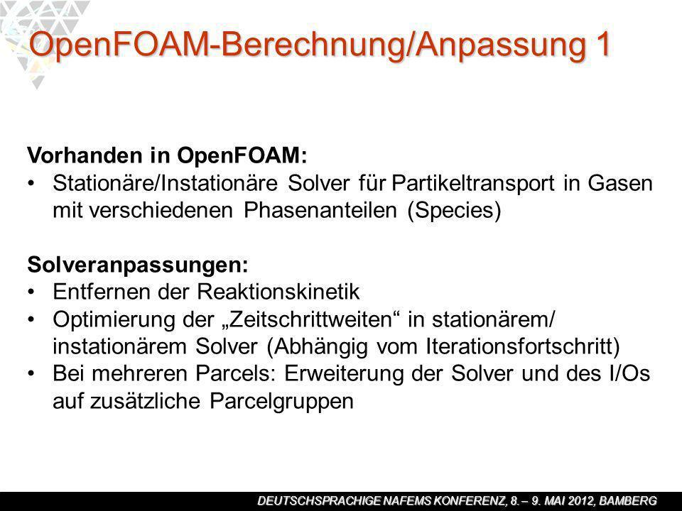 OpenFOAM-Berechnung/Anpassung 1