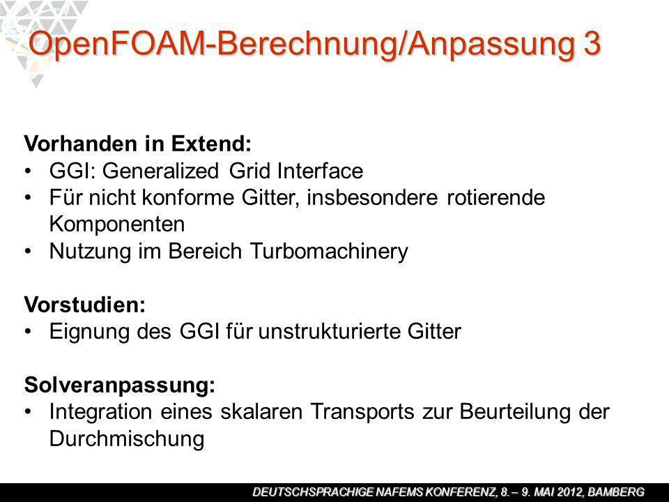 OpenFOAM-Berechnung/Anpassung 3