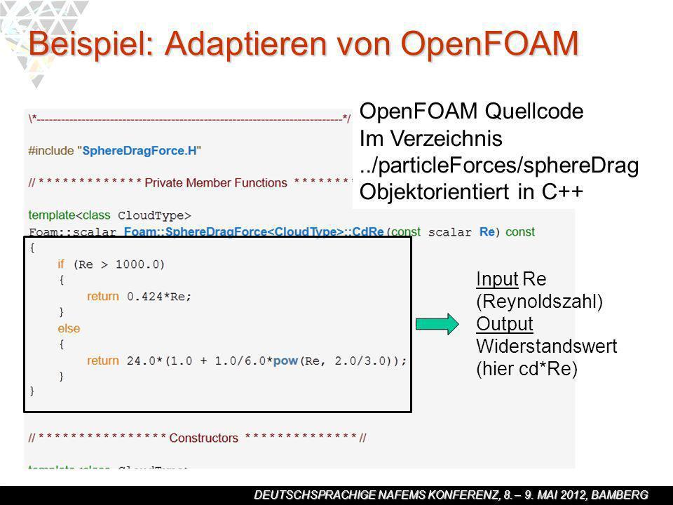 Beispiel: Adaptieren von OpenFOAM