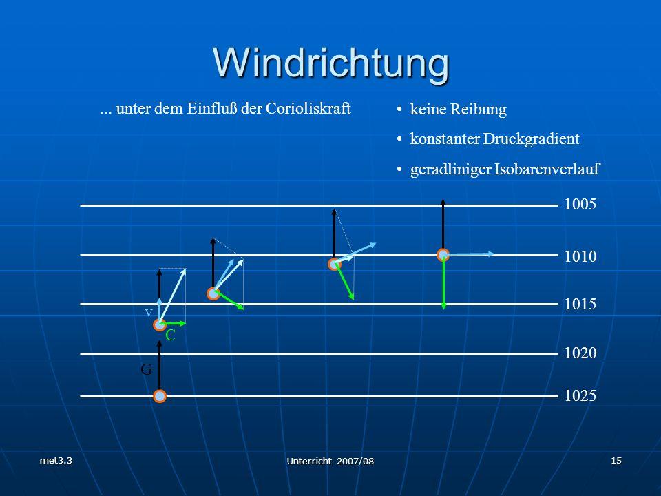 ... unter dem Einfluß der Corioliskraft