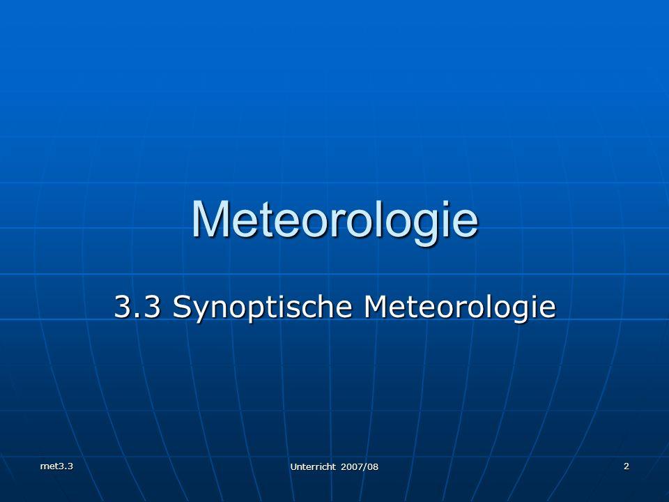 3.3 Synoptische Meteorologie