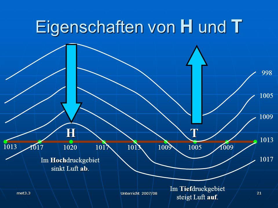 Eigenschaften von H und T