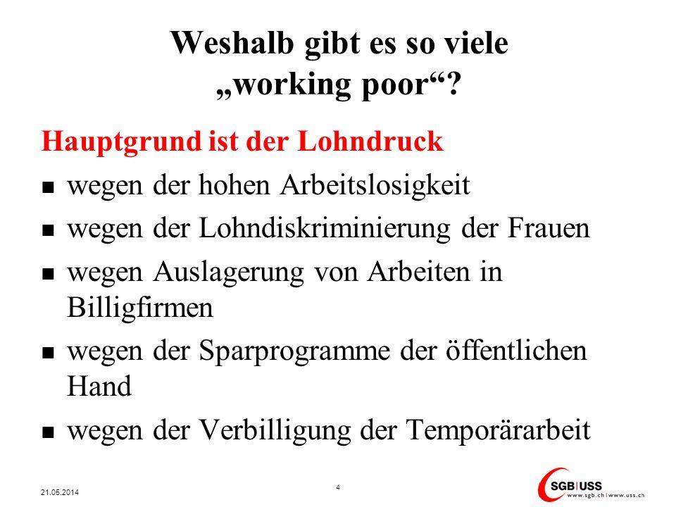 """Weshalb gibt es so viele """"working poor"""