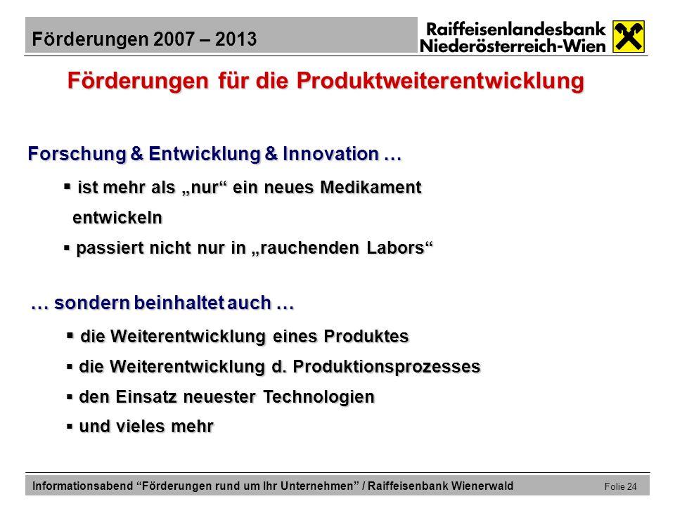 Förderungen für die Produktweiterentwicklung
