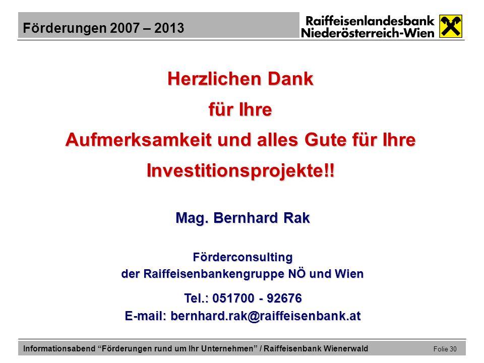 Aufmerksamkeit und alles Gute für Ihre Investitionsprojekte!!