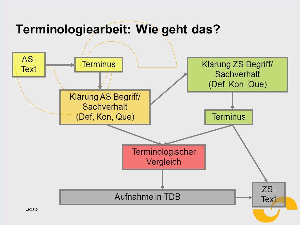 Terminologiearbeit: Wie geht das