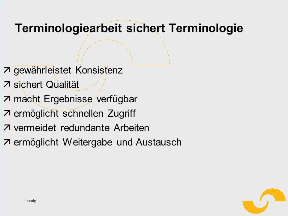 Terminologiearbeit sichert Terminologie