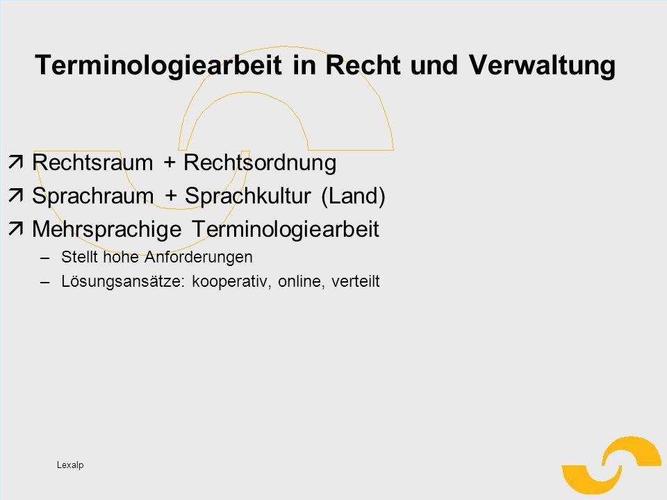 Terminologiearbeit in Recht und Verwaltung