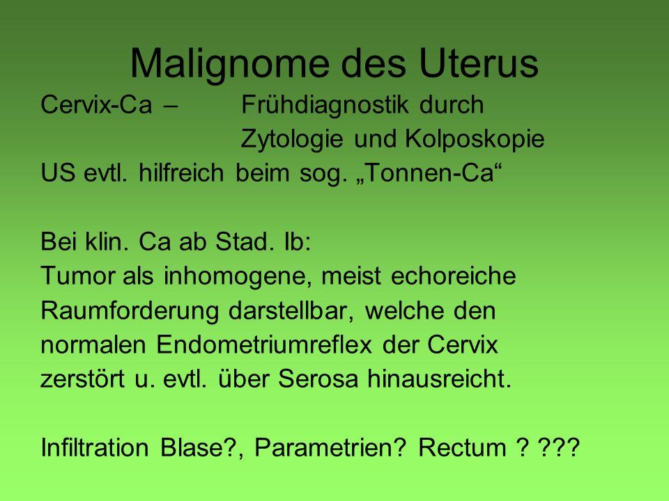 Malignome des Uterus Cervix-Ca – Frühdiagnostik durch