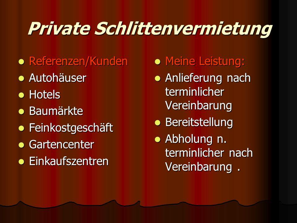 Private Schlittenvermietung
