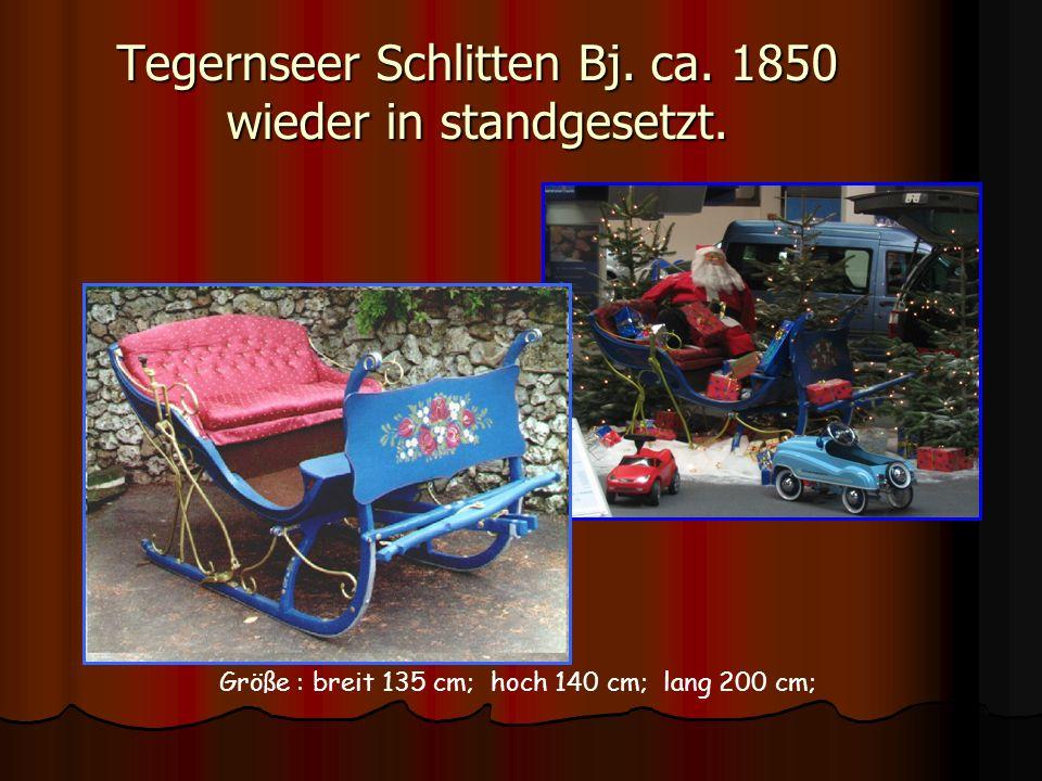 Tegernseer Schlitten Bj. ca. 1850 wieder in standgesetzt.