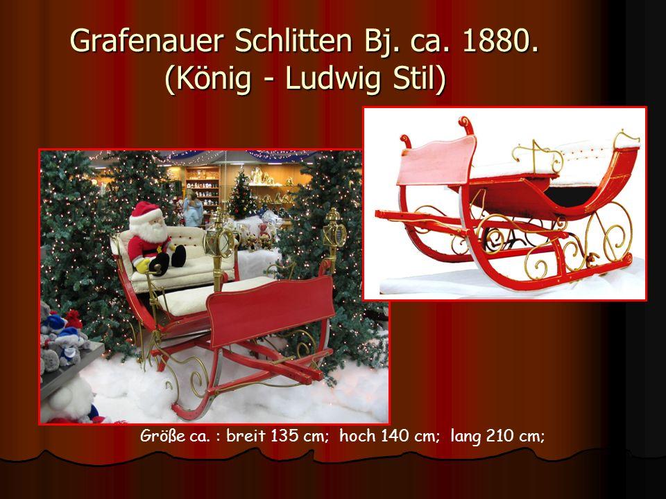 Grafenauer Schlitten Bj. ca. 1880. (König - Ludwig Stil)