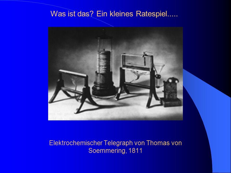 Elektrochemischer Telegraph von Thomas von Soemmering, 1811