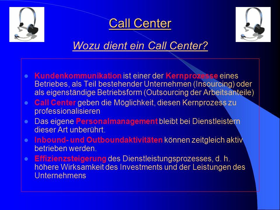 Wozu dient ein Call Center