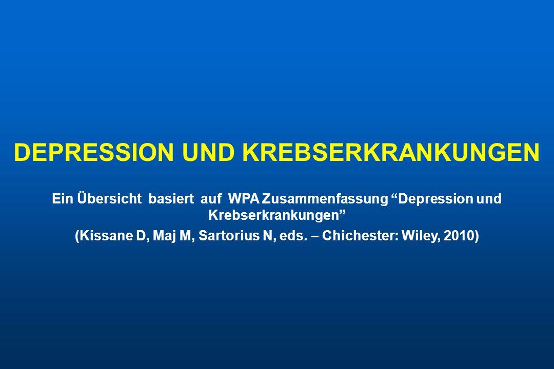 DEPRESSION UND KREBSERKRANKUNGEN