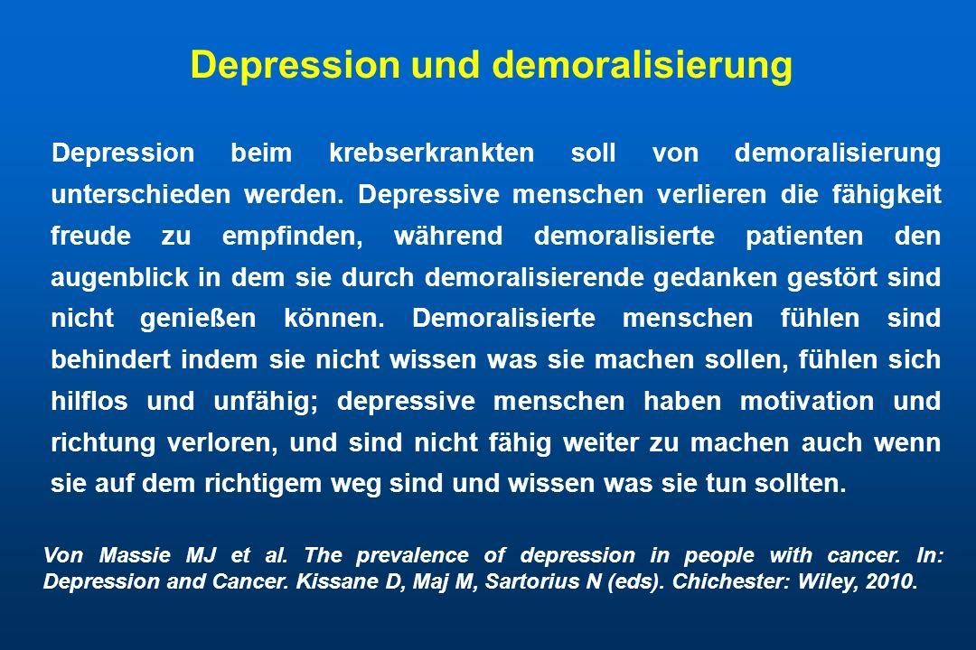 Depression und demoralisierung
