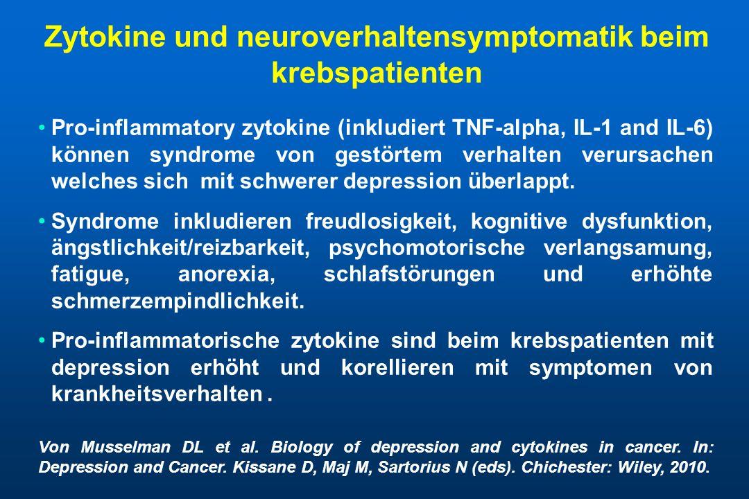 Zytokine und neuroverhaltensymptomatik beim krebspatienten