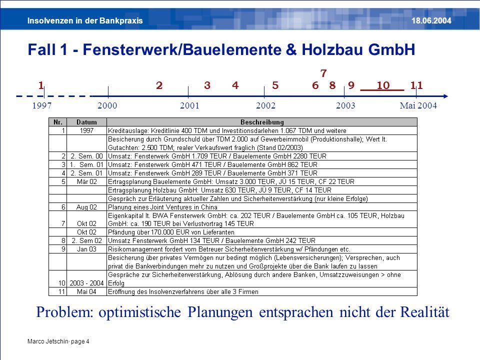 Fall 1 - Fensterwerk/Bauelemente & Holzbau GmbH