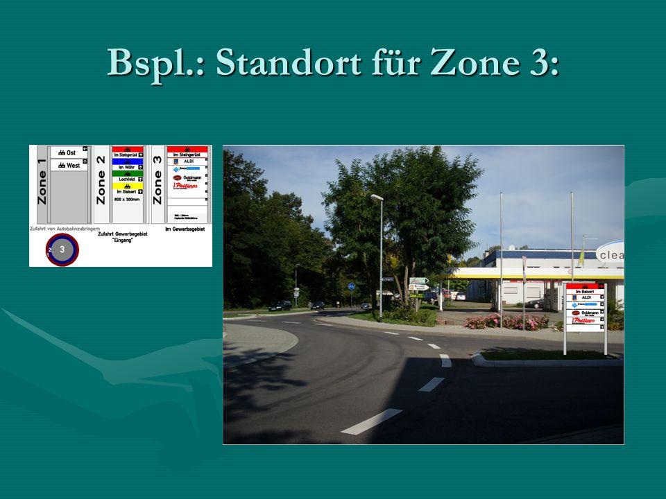 Bspl.: Standort für Zone 3: