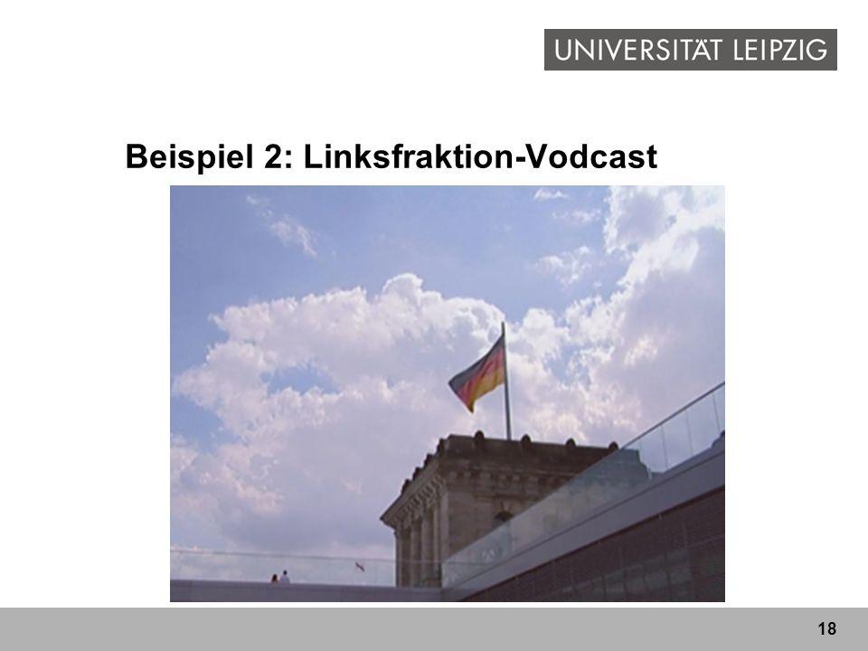 Beispiel 2: Linksfraktion-Vodcast