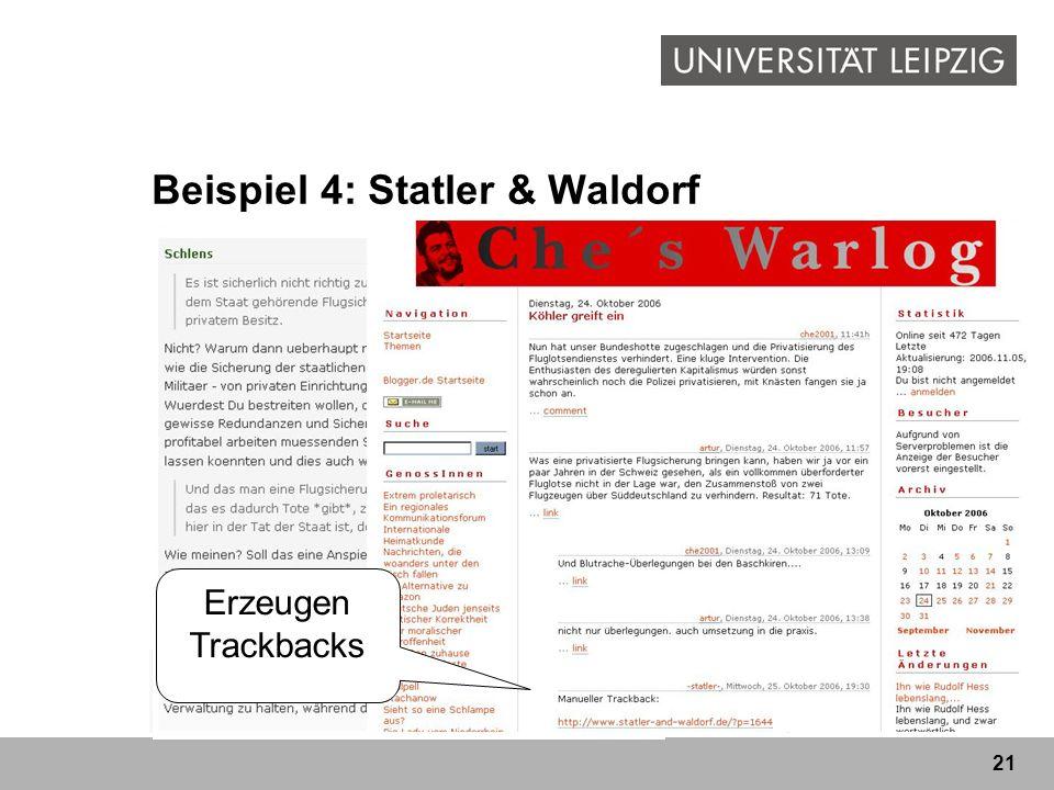 Beispiel 4: Statler & Waldorf