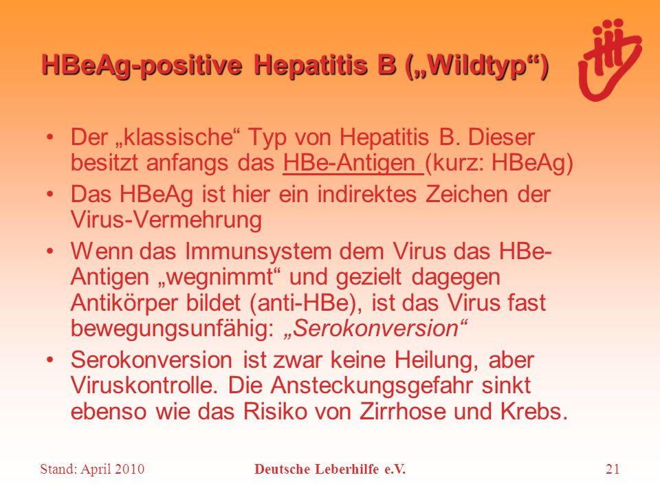 "HBeAg-positive Hepatitis B (""Wildtyp )"